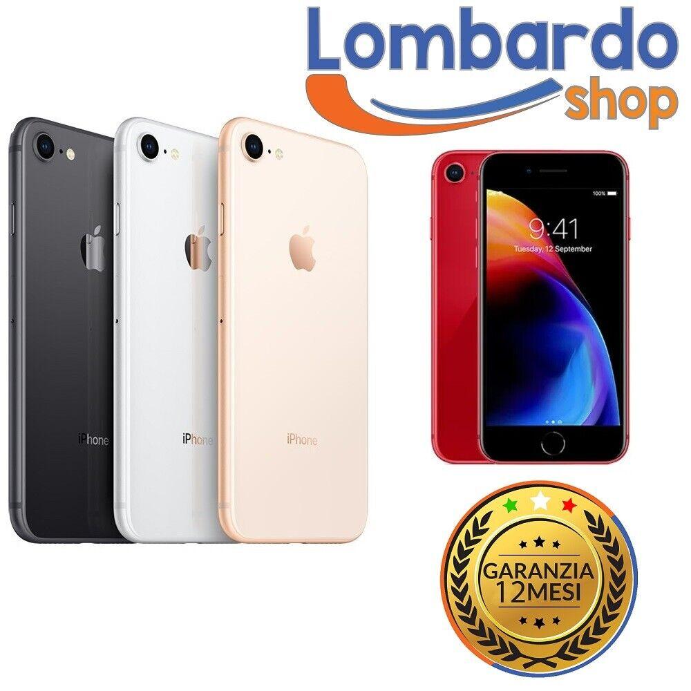 iPhone: IPHONE 8 RICONDIZIONATO 256GB GRADO B BIANCO NERO ORO ROSSO APPLE RIGENERATO