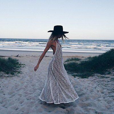 Fashion Women Summer Boho Lace Sundress Sexy Evening Party Long Maxi Beach Dress