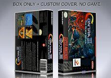 CONTRA 3. NTSC VERSION. Box/Case. Super Nintendo. BOX + COVER. (NO GAME).