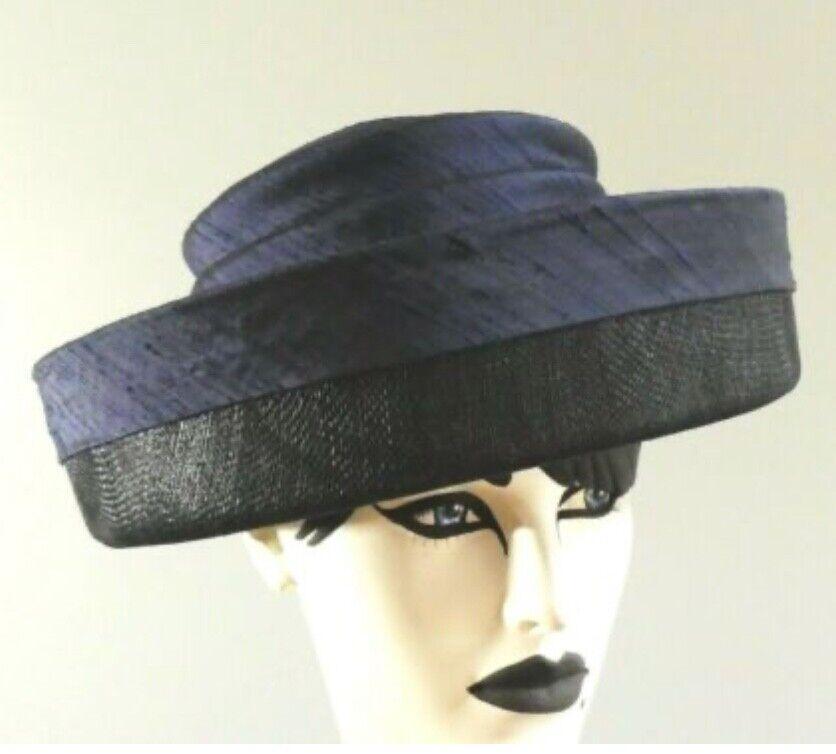 Whitley Navy & Black Wedding Hat