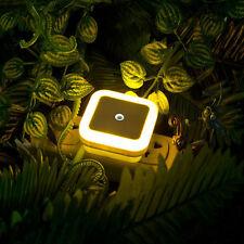 EU Plug Yellow Auto LED Light Induction Sensor Control Lamp Bedroom Night Light