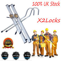 Locking Ladder ClampsWith  2 Locks Kit For Securing Ladders to Car Roof Racks