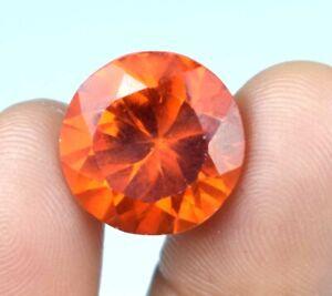 24.15 Ct Round Padparadscha Orange Sapphire Gemstone Natural Certified A34874