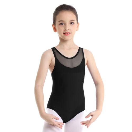 US Kids Girls Ballet Gymnastics Leotard Dance Strechy Jumpsuit Dancewear Costume
