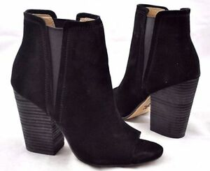 178-size-6-5-Splendid-Kendyll-Black-Suede-Peep-Toe-Heel-Ankle-Bootie-Shoes