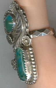 Free-form-Turquoise-and-Chrysocolla-set-in-Sterling-Silver-in-Size-8-Ring
