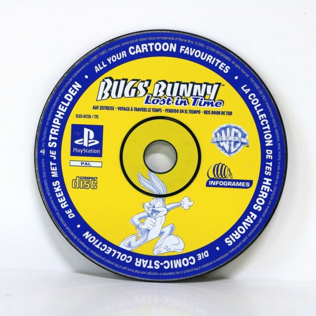 BUGS BUNNY LOST IN TIME GAME-Sony Playstation PS1-solo disco!