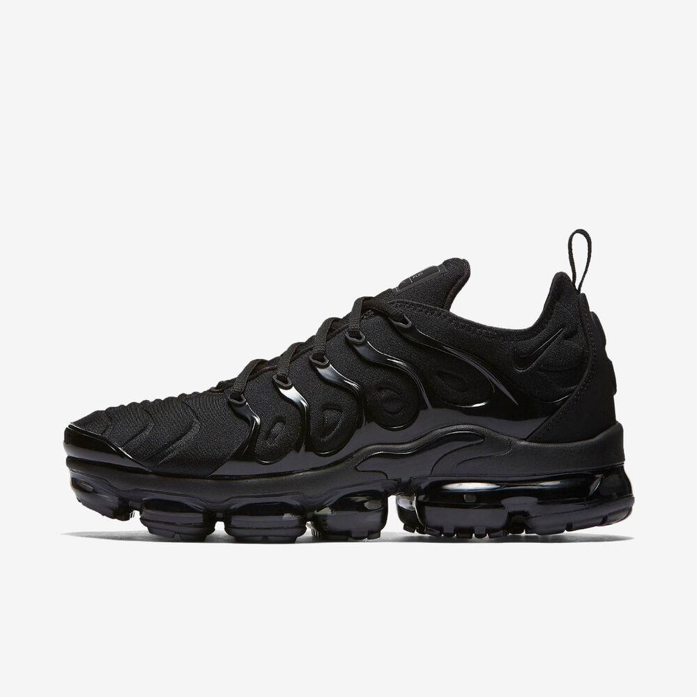 NIKE AIR VAPORMAX PLUS 924453-004 TRIPLE Noir Noir DARK GREY Chaussures de sport pour hommes et femmes