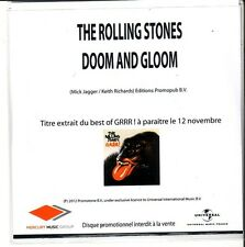 "ROLLING STONES ""Doom and Gloom"" FRENCH  1 Track Promo CD EXTREME RARE"