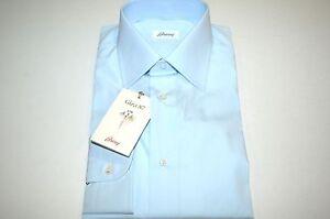Us 44 katoen winkelcode Brioni Nieuw overhemd 5 maat B20 17 Eu 100 qTgRx0