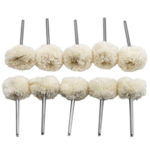 10pcs 3mm Wool Felt Polishing Wheel Buffing Pad Grinding Set For Rotary Tools