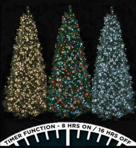 Fairy Lights 100 LED Christmas String Chaser Indoor Outdoor Xmas Tree Decoration