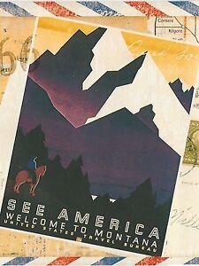 Image Is Loading Vintage Travel Posters Chicago Denver Pasadena ONLY 9