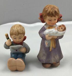 1999-Goebel-Berta-Hummel-Figurine-Set-A-North-Pole-Address-Lullaby-For-Dolly-620