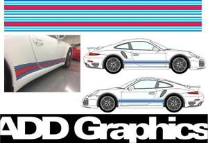 Martini Racing side stripes graphic decal Porsche Cayman 911 gt3