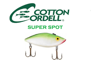 Cotton-Cordell-Super-Spot-Shad-Discontinued-Color-Green-Shad-New-0668