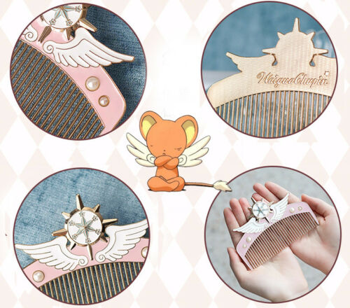 US!Girls Cardcaptor Sakura Fancy Anti-static Comb Fans Collection Birthday Gifts