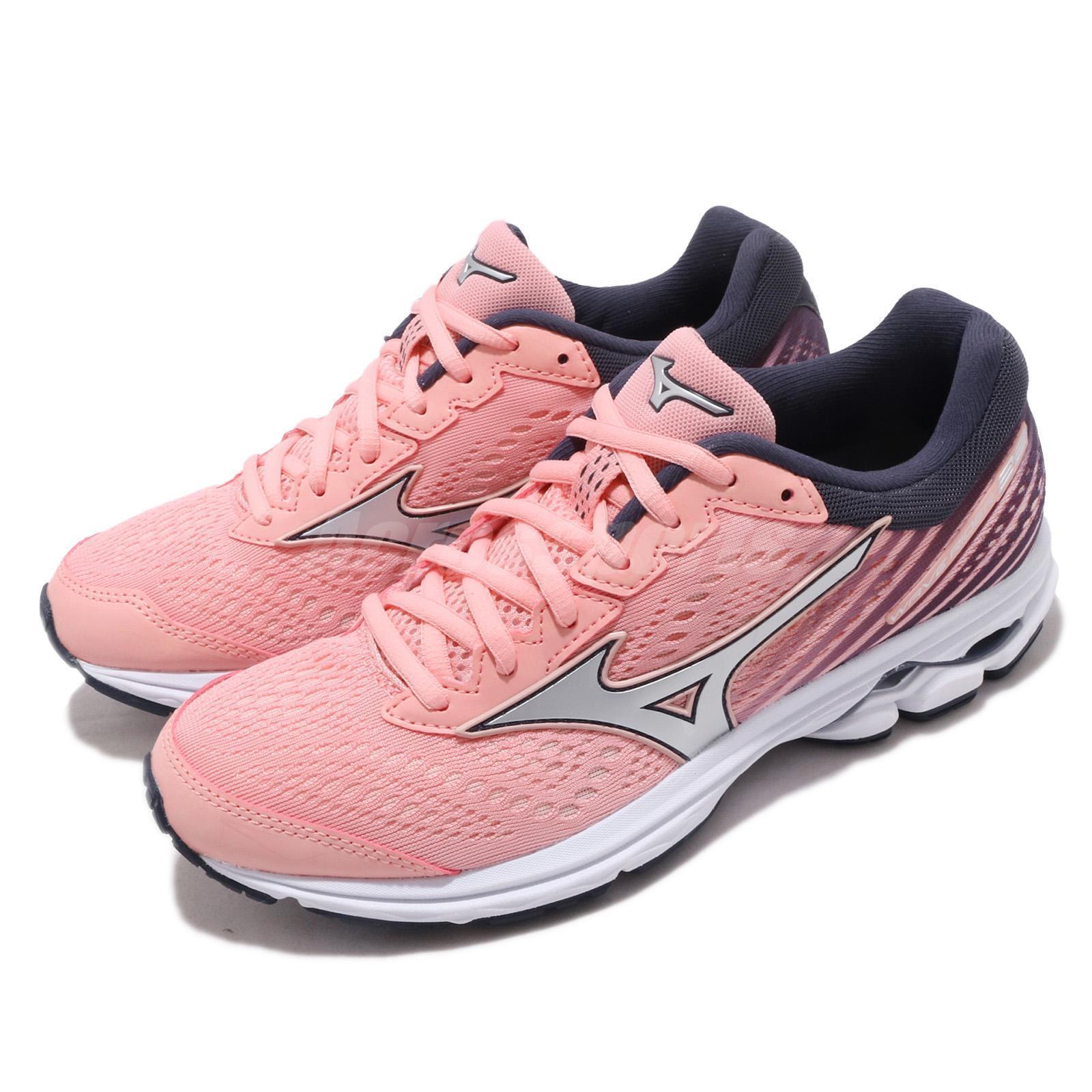 Mizuno Wave Rider 22 rosado plata blanco mujer Running zapatos zapatos zapatos zapatillas J1GD1831-74  mejor opcion
