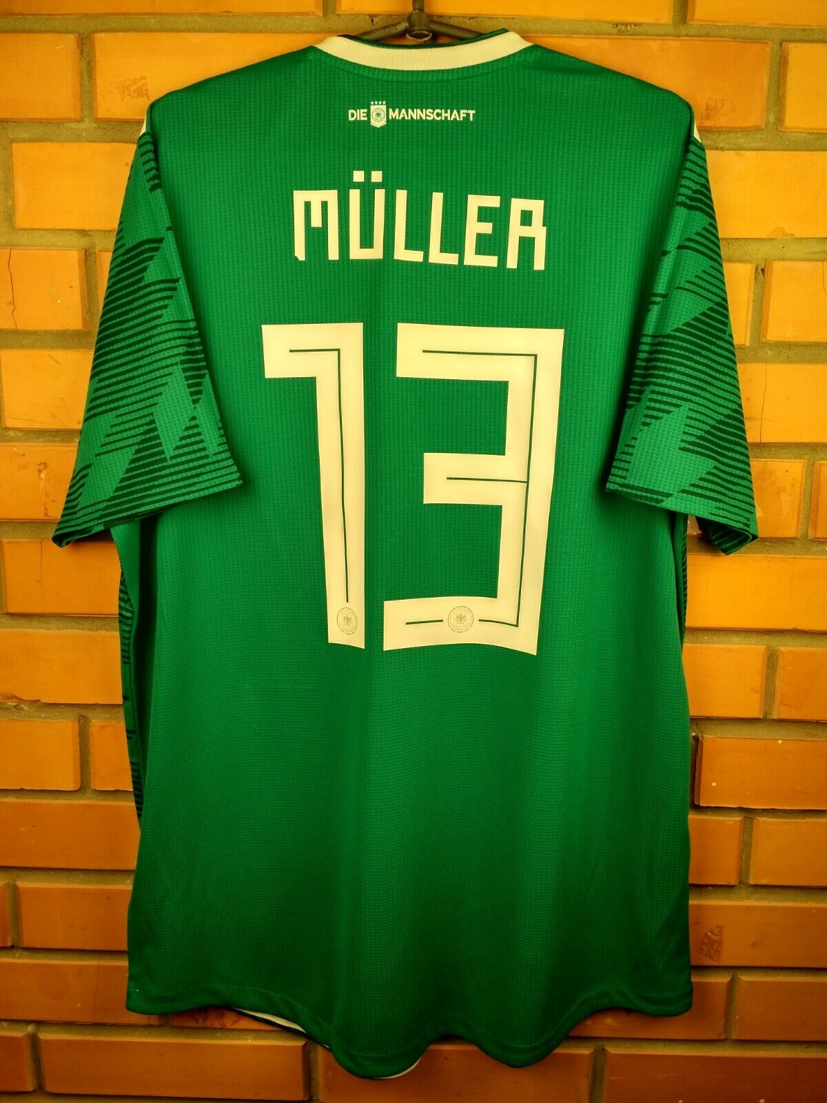 Muller Germany authentic jersey XL 2018 away shirt BR3143 soccer football Adidas