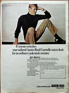 Austin Reed Of Regent Street Courtelle Micro Knit Polo Neck Sweater Advert 1966 Ebay