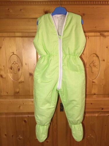 Winter Schlafsack Beinen Overall 98//104 NEU Vichy grün