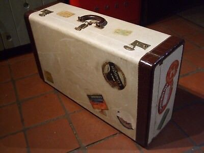 Super Vintage Travel Case With Great Original Travel Labels Inc Queen Mary 1947 Online Korting