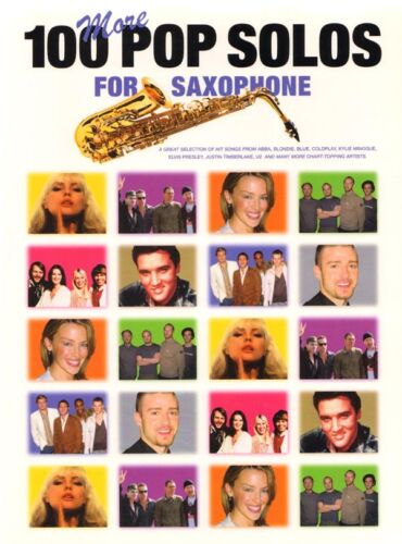 100 More Pop Solos for Saxophone aktuelle Pop Songs Noten für Saxofon u Gitarre