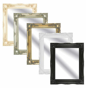Large-Ornate-Swept-Antique-Effect-Framed-Mirrors-In-Various-Colours-and-Sizes
