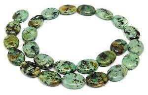 Afrikanischer-Tuerkis-Perlen-Ovale-ca-16x12x5-mm-Edelsteinperlen-Strang
