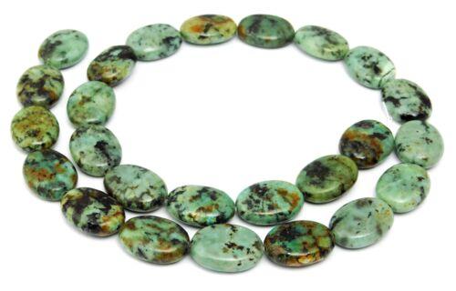 12 Africano turquesa ovales aprox 16x12x5 mm perlas Strang evaluación