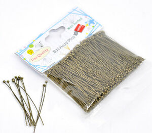1-Packet-Well-HOTSELL-Sorted-Bronze-Tone-Ball-Head-Pins-5cm