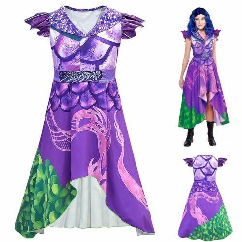 Descendants 3 Audrey Mal Costume Halloween Cosplay Fancy Dress Girls Party Bookd