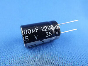 63V radial 1x Elko 2200uF µF