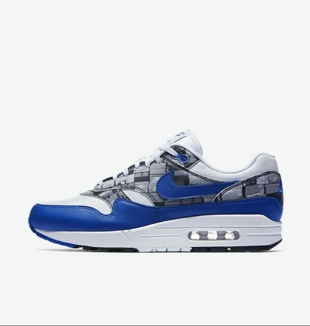 the best attitude 421b7 80b26 Mens Size 10 Nike X Atmos Air Max 1 Print White Royal Grey DS SNKRS Aq0927- 100