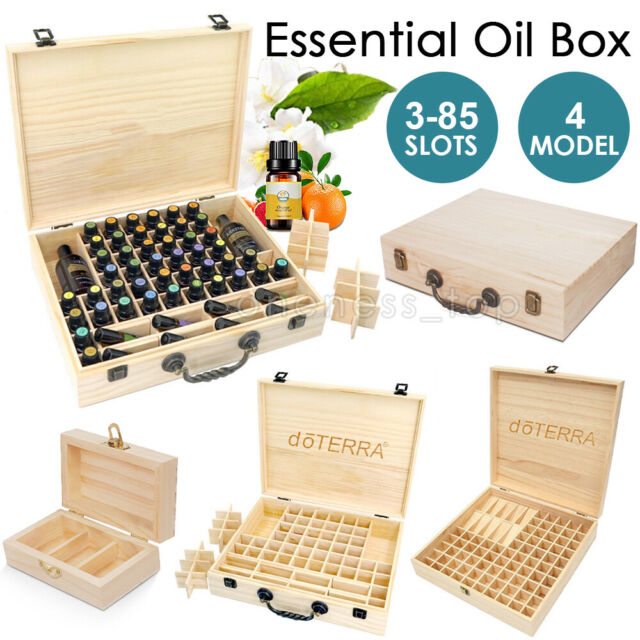 12 25 59 85 Slots Essential Oil Storage Box Aromatherapy Wooden Holder Container