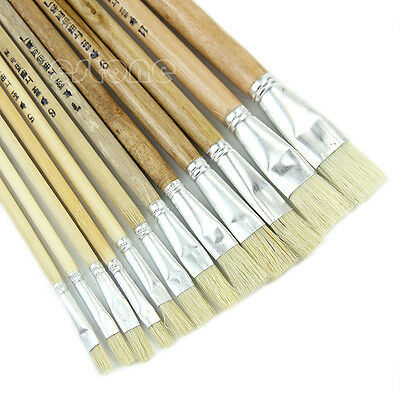 New 12pcs/set Paint Brush for Oil Watercolor Acrylic Art Craft Artist Painting