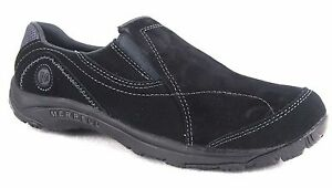 Merrell-Women-039-s-Kamori-Eclipse-Slip-On-Sneaker-Black-Shoes-J226377-Special