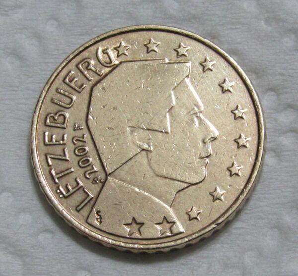 2002 Luxembourg 50 Euro Centimes Rendre Les Choses Commodes Pour Le Peuple