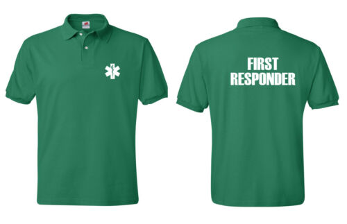 First Responder Tees Emergency Medical Services tee Polo Shirt S-5XL