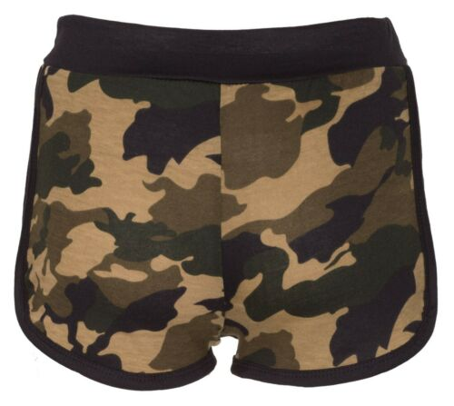 New Womens Ladies Camouflage Hot Pants Army Military Camo Stretch Summer Shorts