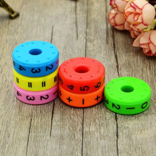 6pcs Plastic Magnetic Kids DIY Assembling Puzzles Learning Math Educational Toys