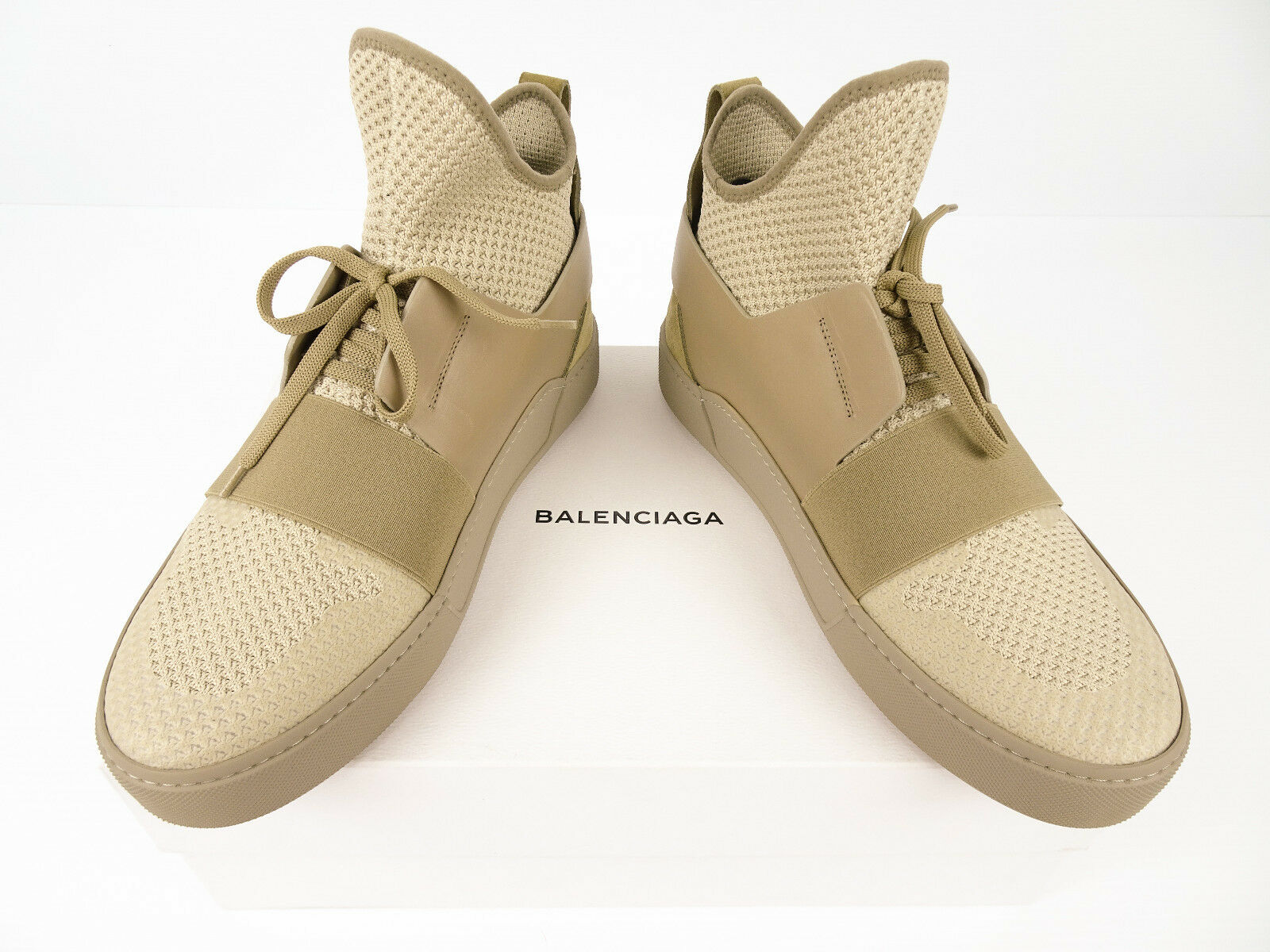 🔥 BALENCIAGA Beige Suede Leather