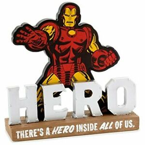 Hallmark-Iron-Man-There-039-s-a-Hero-Inside-All-of-Us-Quote-Resin-Sign-New