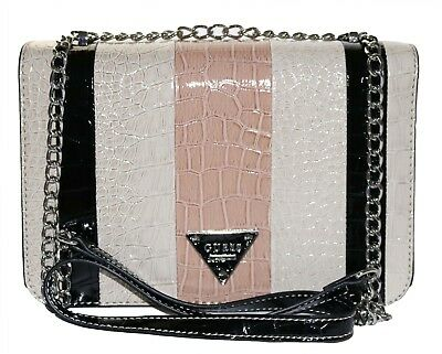 Guess Bay View Patent Leather Crossbody Shoulder Bag, Stone Multi 190231025689 | eBay