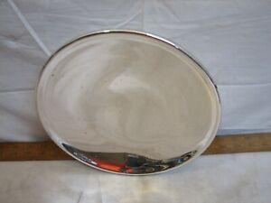 "Antique Mercury Glass Reflector for Oil Lamp Wall Bracket Fluid Light 9-1/2"""