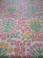 Cotton Fabric Robert Allen Susan Sargent Pink Green Medallion