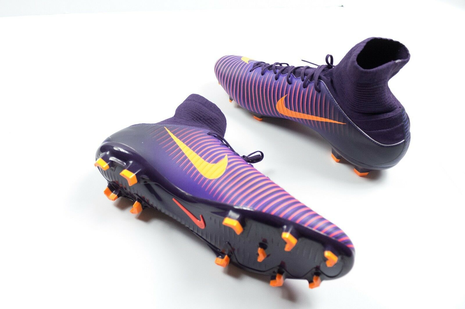 NIKE MERCURIAL VELOCE III DF FG SOCCER CLEAT PURPLE CITRUS MEN'S 13 [831961-585]