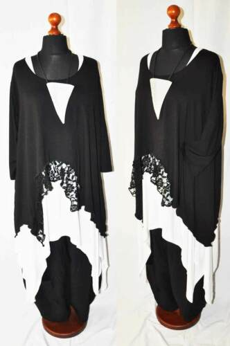 ° Fresco Black Look Strati°°offset°° °° Pizzo Tunica°° Jersey A Punta 6nHgSq