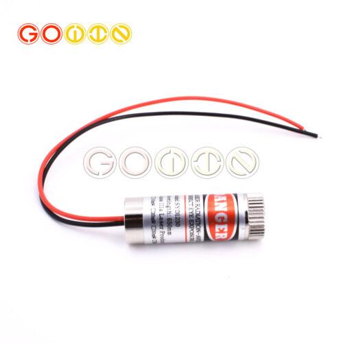 650nm 5V 5mW Red Laser Line Focus Adjustable Laser Head 5V GOOD