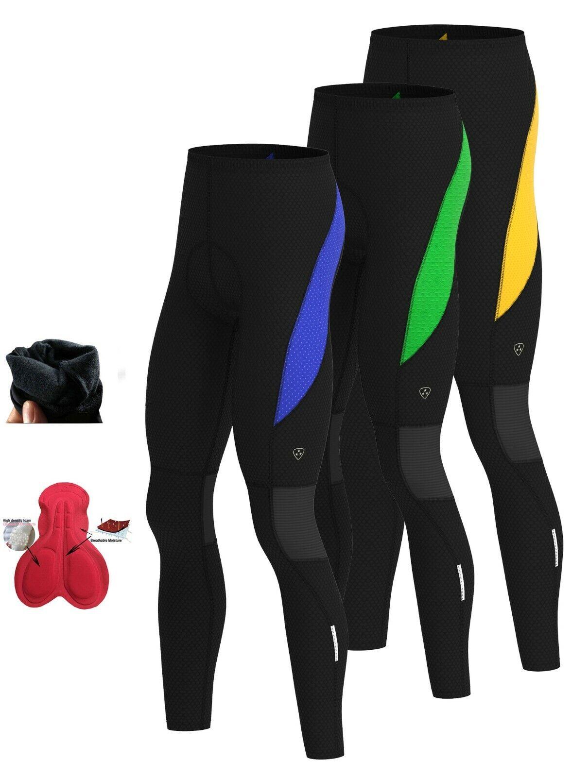 Hombre Ciclismo Termico Apretado Pantalones Invierno Frio Ropa Acolchado Legging Ebay